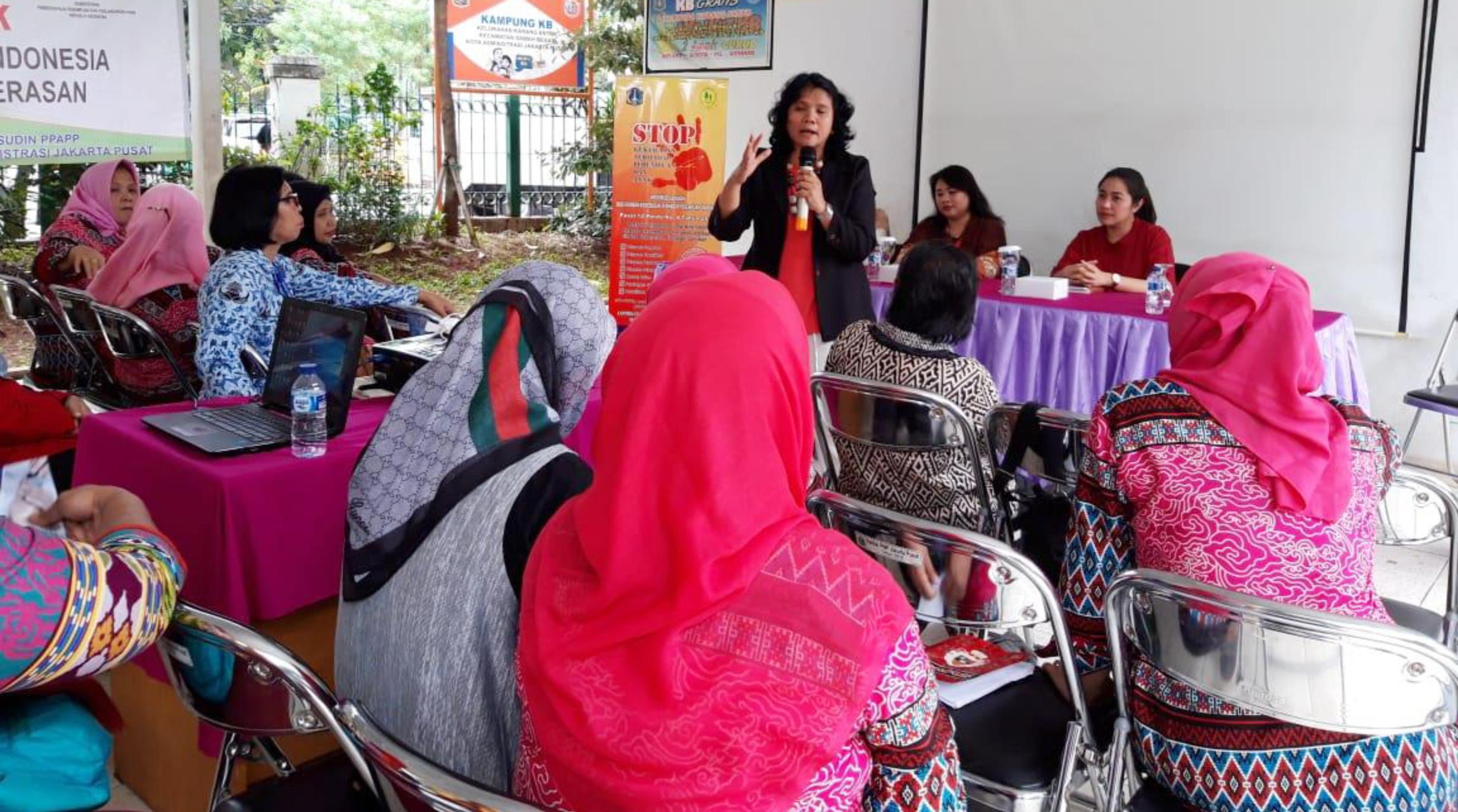 Kampanye Stop Kekerasan pada Perempuan dan Anak, RPTRA Karang Anyar Jakarta
